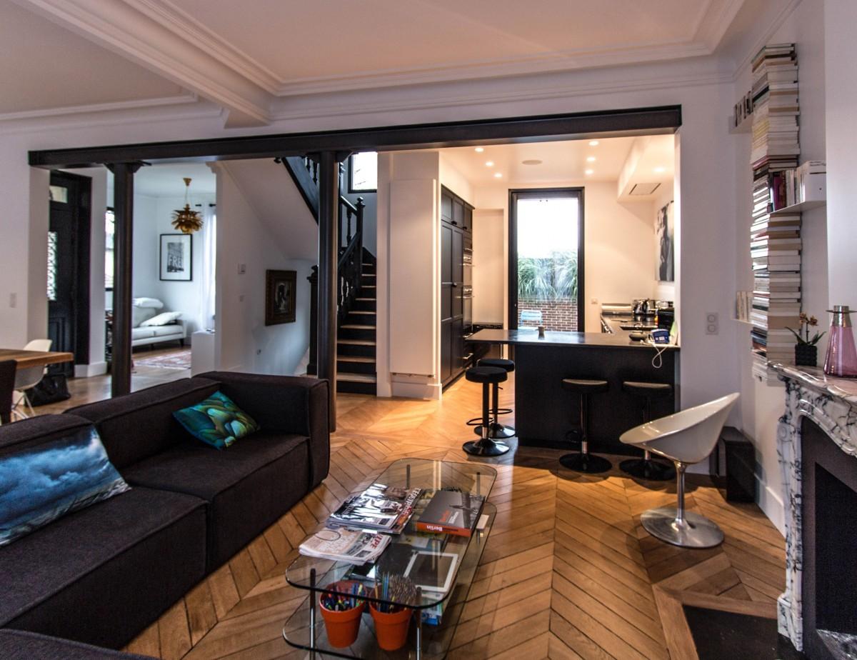 Une maison suresnes architecte d 39 int rieur paris for Architectes d interieur paris