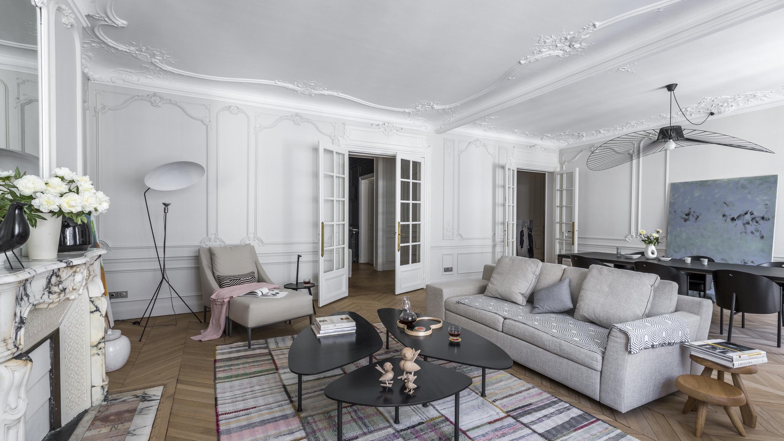 appartement haussmannien et contemporain paris agence v ronique cotrel. Black Bedroom Furniture Sets. Home Design Ideas