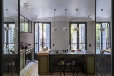 Rénovation appartement parisien : aménagement jardin, espace parental, création Hammam